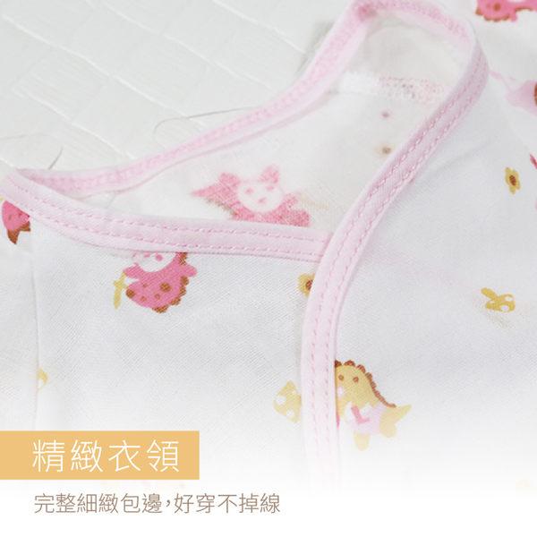 (三件組)MIT紗布衣 和尚服 台灣製 護手款紗布衣 高支線印花 新生兒服 嬰兒服 寶寶內衣【A70035】