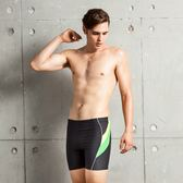 ★奧可那★ 黃綠斜紋運動泳褲