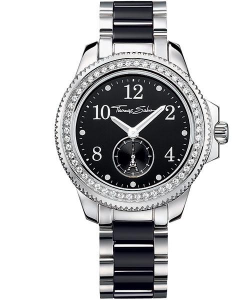 Thomas Sabo It Girl 艾菲爾鐵塔小秒針陶瓷腕錶-38mm WA0055