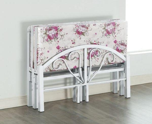 【南洋風休閒傢俱】臥室系列-單人白色折合簡易鐵床 折疊床 SY057-1