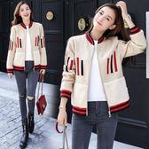 夾克/棒球服 外套新款韓版短款棒球服學生羊羔絨短外套春秋