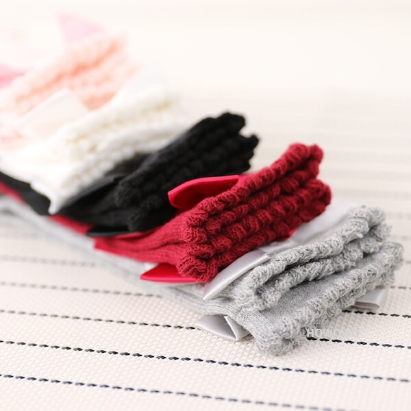 童襪 寶寶襪 蝴蝶結中筒襪 嬰兒襪 0-7歲 CA1269 好娃娃