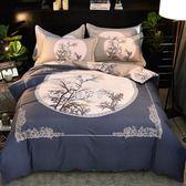 婚慶床上用品 冬秋新品全棉生態磨毛大版花床上用品四件套婚慶磨毛套件 珍妮寶貝