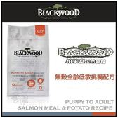 *KING WANG*《柏萊富》blackwood 無穀低敏挑嘴犬糧 鮭魚加豌豆 15磅