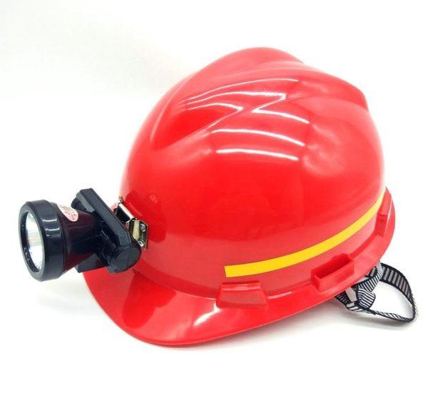 黑色帶頭燈的安全帽 帶頭燈頭盔工地照明工程礦工礦井礦帽頭燈 挪威森林