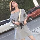 VK精品服飾 韓系寬鬆修身大口袋半身裙套裝短袖裙裝