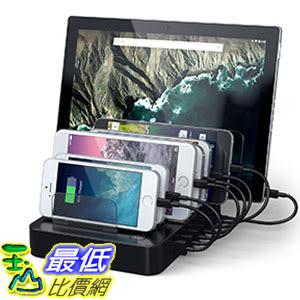 [美國直購] Satechi ST-MCSTC7B 黑色 七孔集線器 7-Port USB Charging Station Dock for 2xType-C Ports iPhone/iPad/Samsung