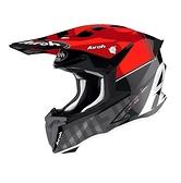AIROH TWIST 2.0 TECH 越野帽 #32 亮黑/紅灰 義大利品牌|23番 安全帽 雙D扣 輕量 透氣 全罩