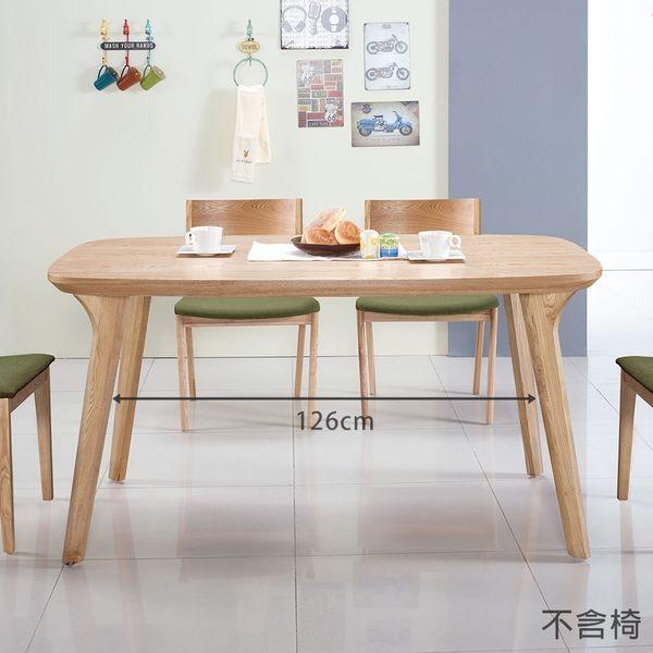 【森可家居】維克托5尺餐桌(不含椅) 7JX229-2 無印北歐風 木紋質感
