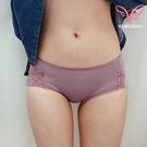 【玉如阿姨】花邊女孩蕾絲三角褲。低腰 三角 蕾絲 透氣 包覆 內褲 台灣製 MIT※K072