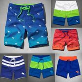 新款溫泉度假沙灘褲男速幹大碼短褲夏季海灘寬鬆潛水五分沖浪泳褲 【PINKQ】