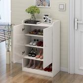 (超夯免運)鞋櫃門廳儲物櫃多功能經濟對開門組裝簡約五格客廳簡易免漆xw
