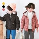 菱形造型羽絨棉連帽外套 童裝 外套