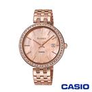 CASIO卡西歐 奢華耀眼風采女腕錶-玫瑰金x36mm  SHE-4052PG-4A