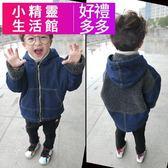 兒童牛仔外套 秋短版外套 加絨加厚正韓 小精靈