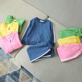 女童套裝 秋裝新款韓版女童簡約中性全棉拉鏈外套運動休閒套裝贊 米蘭街頭