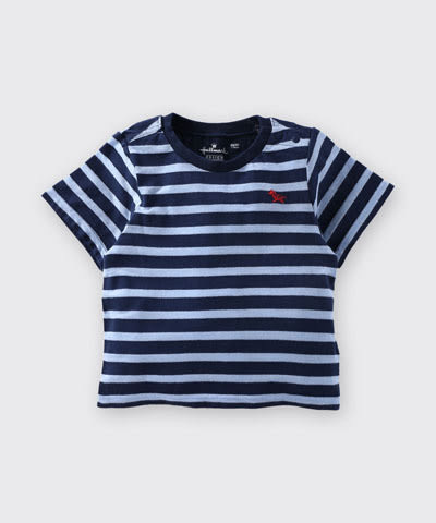 【特惠6折】Hallmark Babies 小馬藍色間條條紋短袖上衣 HD1-R13-04-KB-PN