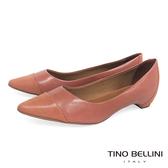 Tino Bellini 巴西進口知性品味舒足低跟鞋 _ 粉 B69010C 歐洲進口款
