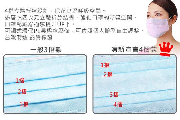 清新宣言 醫用口罩-成人專用(50片/盒)【顏色隨機】/醫療口罩/口罩-4入組