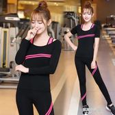 瑜伽服套裝上衣健身房專業跑步運動女三件套長袖速乾新款    凱斯盾數位3C