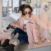 限定款厚外套 童裝女童風衣春秋快速出貨免運兒童中長版刺繡秋裝外套正韓洋氣上衣潮