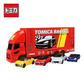 【日本正版】TOMICA 賽車運輸車 附4台小車 玩具車 多美小汽車 - 883470