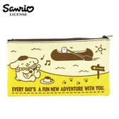 【  】布丁狗Pom Pom Purin 帆布扁筆袋M 號鉛筆盒筆袋收納包三麗鷗Sanrio 443818