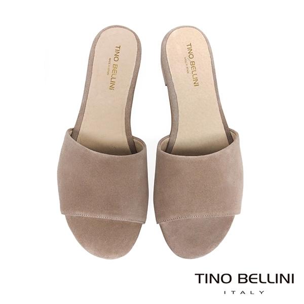 Tino Bellini 西班牙進口極簡自然風平底涼拖鞋 _ 灰駝 A83029 歐洲進口款