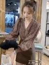 設計感小眾長袖鏤空蕾絲襯衫女秋復古法式氣質小衫歐貨泡泡袖上衣 【雙十一下殺】