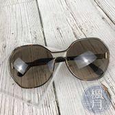 BRAND楓月 PRADA 時尚玳瑁邊框 八角 淺灰鏡面 墨鏡
