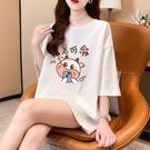 加大尺碼上衣T恤女2116#M-5XL大碼女裝夏裝新款印花寬松短袖T恤女H500依佳衣