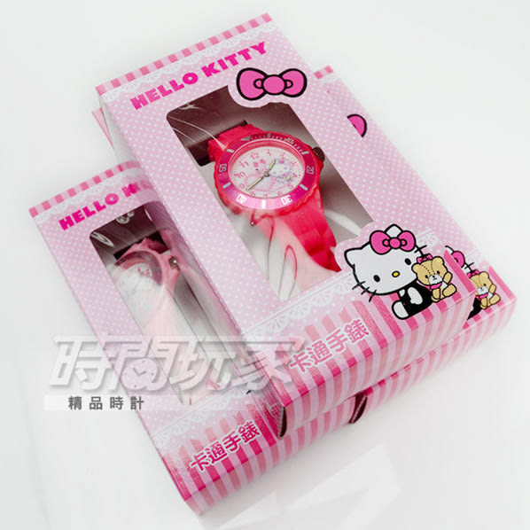 SANRIO三麗鷗 HELLO KITTY凱蒂貓系列 日本機芯 愛心 童趣卡通女錶 兒童錶 天藍色 S7-1011K