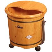 在水一方香柏木泡腳桶家用泡腳木桶加高帶蓋小木盆泡腳盆女足浴桶QM 美芭