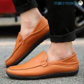 男士豆豆鞋韓版休閒鞋皮鞋一腳蹬