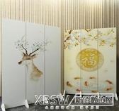 屏風隔斷客廳小戶型折疊裝飾中式簡約現代行動折屏辦公室玄關雙面CY『新佰數位屋』