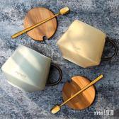 馬克杯 北歐咖啡杯創意早餐杯子陶瓷辦公室情侶水杯茶杯 df2650【Sweet家居】