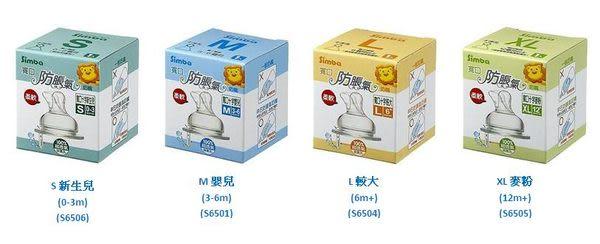 **小饅頭**小獅王 防脹氣寬口十字孔奶嘴-1入(S~XL) (S6506.6501.6504.6505)