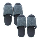 (組)雅緻毛呢保暖拖鞋-藍Lx1+XLx1