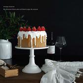 歐式高腳蛋糕盤8寸蛋糕托盤甜品台鐵藝蛋糕架婚慶道具甜品架尾牙 限時鉅惠