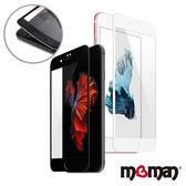 Mgman iPhone 7Plus/ 8Plus 5.5吋 3D曲面滿版碳纖維軟邊玻璃保護貼