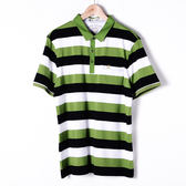 John Duke 經典條紋POLO衫-黑綠