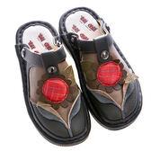 newMODO/包拖兩用-3D向日葵-THE ONE 氣墊鞋(全牛皮)-E40007 黑