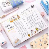 韓國2018日程手帳本創意彩頁插畫手繪手賬小清新可愛日記筆記本子 挪威森林