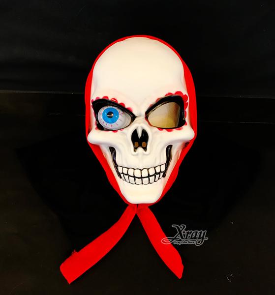 塑膠全罩面具-獨眼鬼,萬聖節/派對/亮燈/cosplay/表演/異形/骷髏/頭套/化妝舞會,節慶王【W430640】