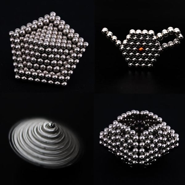 巴克球磁力球 1000顆5mm圓形吸鐵石巴基球創意積木魔方塊磁鐵玩具『米菲良品』
