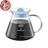金時代書香咖啡 Tiamo 耐熱玻璃咖啡壺 600cc 圓把手 藍色HG2220BL