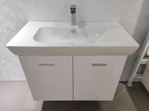 [ 歐洲進口 VitrA臉盆 ]+特製發泡板浴櫃 寬85*深46*高63cm (吊櫃) 雙門對開,大水槽!大收納空間!