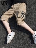 男童短褲夏洋氣薄款中大童夏裝五分褲子兒童中褲夏季工裝七分褲潮【免運】