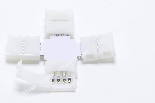 十字型燈條線夾(七彩用)(RGB接頭 對接頭 連接頭 4PIN LED七彩燈條用)