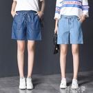 牛仔短褲 天絲棉牛仔短褲女夏季薄款2020年夏季超薄款鬆緊腰牛仔褲女五分褲 阿薩